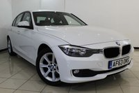 USED 2013 63 BMW 3 SERIES 2.0 316D ES 4DR 114 BHP BMW SERVICE HISTORY + SAT NAVIGATION + PARKING SENSOR + BLUETOOTH + CRUISE CONTROL + MULTI FUNCTION WHEEL + 17 INCH ALLOY WHEELS