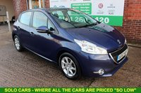 USED 2013 63 PEUGEOT 208 1.4 ACTIVE HDI 5d 68 BHP +5 DOOR +DIESEL +FREE Tax.