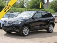 USED 2015 65 VOLKSWAGEN TOUAREG 3.0 V6 ESCAPE TDI BLUEMOTION TECHNOLOGY 5d AUTO 259 BHP SAT NAV, LEATHER + HEATED SEATS