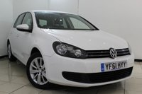 USED 2012 61 VOLKSWAGEN GOLF 1.6 MATCH TDI 5DR 103 BHP SERVICE HISTORY + BLUETOOTH + PARKING SENSOR + CRUISE CONTROL + MULTI FUNCTION WHEEL + 16 INCH ALLOY WHEELS