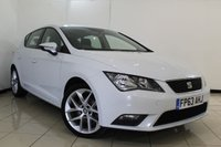 USED 2013 63 SEAT LEON 1.6 TDI SE 5DR 105 BHP SEAT SERVICE HISTORY + BLUETOOTH + PARKING SENSOR + CRUISE CONTROL + MULTI FUNCTION WHEEL + 16 INCH ALLOY WHEELS