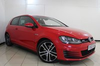 USED 2013 63 VOLKSWAGEN GOLF 2.0 GTD 3DR 182 BHP FULL SERVICE HISTORY + REVERSE CAMERA + CRUISE CONTROL + PARKING SENSORS + CLIMATE CONTROL + BLUETOOTH + 18 INCH ALLOY WHEELS