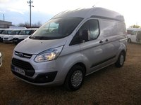 USED 2014 14 FORD TRANSIT CUSTOM 2.2 310 TREND LR P/V 1d 124 BHP AIR/CON HI ROOF FULL FORD SERVICE HISTORY