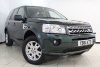 USED 2012 61 LAND ROVER FREELANDER 2.2 SD4 XS 5DR AUTOMATIC 190 BHP SERVICE HISTORY + HALF LEATHER SEATS + SAT NAVIGATION + PARKING SENSOR + BLUETOOTH + CRUISE CONTROL + MULTI FUNCTION WHEEL + 17 INCH ALLOY WHEELS