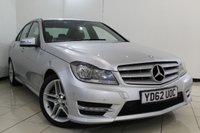 USED 2012 62 MERCEDES-BENZ C CLASS 2.1 C220 CDI BLUEEFFICIENCY AMG SPORT 4DR AUTOMATIC 168 BHP SERVICE HISTORY + HALF LEATHER SEATS + PARKING SENSOR + BLUETOOTH + CRUISE CONTROL + MULTI FUNCTION WHEEL + CLIMATE CONTROL + 17 INCH ALLOY WHEELS
