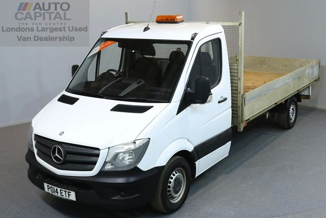 2014 14 MERCEDES-BENZ SPRINTER 2.1 313 CDI LWB 2d 129 BHP DROPSIDE REAR TOW FITTED DROPSIDE LORRY ONE OWNER FROM NEW