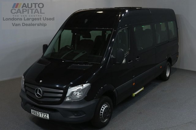 2014 63 MERCEDES-BENZ SPRINTER 2.1 513 BLUETEC TL17 BUS 5d 129 BHP CRUISE CONTROL BLUETOOTH MINI BUS 17 SEAT TRAVELINER ONE OWNER FROM NEW