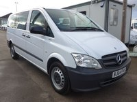 USED 2014 64 MERCEDES-BENZ VITO 113 CDI 9 SEATER TRAVELINER, 136 BHP, 1 COMPANY OWNER