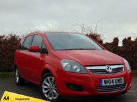 USED 2014 14 VAUXHALL ZAFIRA 1.7 DESIGN NAV CDTI ECOFLEX*7 SEATS* * 128 POINT AA INSPECTED *