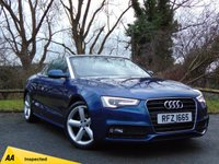 "USED 2012 62 AUDI A5 1.8 TFSI S LINE 2d AUTO cabriolet **""S"" LINE** AUTOMATIC CONVERTIBLE**128 POINT AA INSPECTED**"