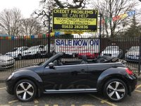 USED 2015 15 VOLKSWAGEN BEETLE 2.0 SPORT TDI 3d 139 BHP STUNNING METALLIC BLACK PAINT WORK, LOVELY BLACK SPORTS CLOTH INTERIOR, 18 INCH POLISHED ALLOY WHEELS, DAB RADIO, AIR CON, 6 DISC, FRONT AND REAR PDC, 1 LADY OWNER, FULL VW SERVICE HISTORY