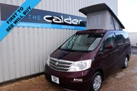 USED 2002 52 TOYOTA ALPHARD TOYOTA ALPHARD 2.4 CAMPERVAN IN UNIQUE BURGUNDY COLOUR - ALL OUR CAMPERVANS COME WITH 3 YEAR MECHANICAL AND INTERIOR WARRANTY