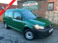 USED 2015 15 VOLKSWAGEN CADDY MAXI 1.6 C20 TDI KOMBI 5d 101 BHP 5 Seat, Lovely Condition, 1 Piece Tailgate, Long Wheel Base.