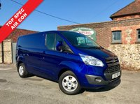 USED 2017 17 FORD TRANSIT CUSTOM 2.0 290 LIMITED LR P/V 1d 130 BHP PRICE CUT, Air Conditioning, Bluetooth Phone Connectivity, Heated Seats, Deep Impact Blue Metallic, Finance Arranged.
