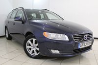 USED 2014 63 VOLVO V70 2.0 D4 BUSINESS EDITION 5DR 178 BHP FULL SERVICE HISTORY + SAT NAVIGATION + BLUETOOTH + CRUISE CONTROL + MULTI FUNCTION WHEEL + 16 INCH ALLOY WHEELS