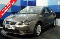 USED 2014 64 SEAT LEON 1.2 TSI SE TECHNOLOGY DSG 5d AUTO 110 BHP A pristine example of this family hatchback finished in metalic gun metal grey contrasted with unmarked alloy wheels .this car comes with satelite navigation ,bluetooth phone preparation, cruise control/speed limiter ,media interface plus all the usual refinements. This car retrurns a very impressive combined mpg of 58.9 along with a road fund of £30 a year,this car needs to be viewed to be appreciated.