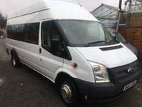 USED 2013 63 FORD TRANSIT 2.2 430 H/R BUS 17 SEATER 134 BHP
