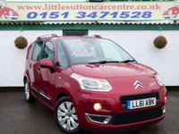 USED 2012 61 CITROEN C3 PICASSO 1.6 PICASSO EXCLUSIVE HDI 5d 110 BHP DIESEL, FULL DEALER HISTORY, ONE OWNER FROM NEW