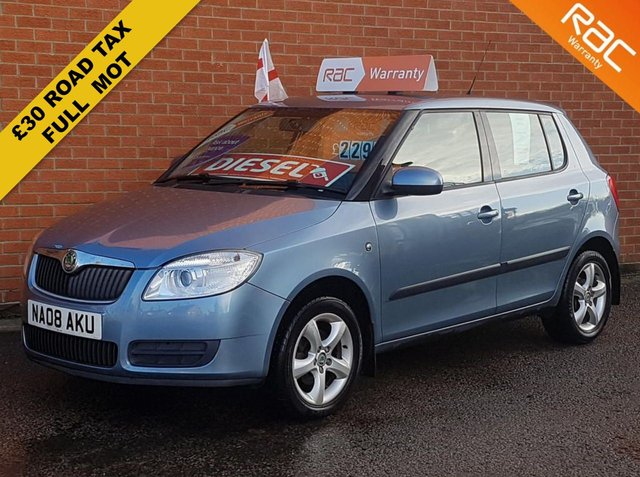 2008 08 SKODA FABIA 1.4 LEVEL 2 TDI 5 DOOR