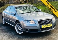 USED 2008 08 AUDI A8 4.2 TDI QUATTRO DPF SE 4d AUTO 326 BHP ANY INSPECTION WELCOME ---- ALWAYS SERVICED ON TIME EVERY TIME AND SERVICED MAINLY BY SAME DEALERSHIP THROUGHOUT ITS LIFE,NO EXPENSE SPARED, KEPT TO A VERY HIGH STANDARD THROUGHOUT ITS LIFE, A REAL TRIBUTE TO ITS PREVIOUS OWNER, LOOKS AND DRIVES REALLY NICE IMMACULATE CONDITION THROUGHOUT, MUST BE SEEN FOR THE PRICE BARGAIN BE QUICK, 6 MONTHS WARRANTY AVAILABLE,DEALER FACILITIES,WARRANTY,FINANCE,PART EX,FIRST TO SEE WILL BUY BARGAIN