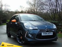 USED 2014 14 CITROEN DS3 1.6 DSTYLE BY BENEFIT 3d 120 BHP * 128 POINT AA INSPECTED *