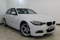 USED 2014 64 BMW 3 SERIES 2.0 320D M SPORT 4DR 181 BHP SERVICE HISTORY + BLUETOOTH + CRUISE CONTROL + PARKING SENSOR + MULTI FUNCTION WHEEL + CLIMATE CONTROL + 18 INCH ALLOY WHEELS