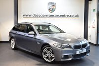 USED 2011 11 BMW 5 SERIES 2.0 520D M SPORT TOURING 5d AUTO 181 BHP + FULL SERVICE HISTORY +  SATELLITE NAVIGATION SYSTEM + FULL HEATED LEATHER + M SPORTS PACKAGE + REVERSING CAMERA + XENON LIGHTS + ALLOY WHEELS +