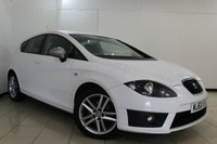 USED 2010 60 SEAT LEON 2.0 FR CR TDI 5DR 168 BHP SEAT SERVICE HISTORY + CLIMATE CONTROL + PARKING SENSOR + BLUETOOTH + CRUISE CONTROL + MULTI FUNCTION WHEEL + 17 INCH ALLOY WHEELS