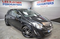 "USED 2014 14 VAUXHALL CORSA 1.4 BLACK EDITION 3d 118 BHP Low miles, Privacy Glass, Black Edition kit, Cruise control, 17"" alloys"