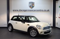 USED 2013 13 MINI HATCH COOPER 1.6 COOPER D 3DR 112 BHP + EXCELLENT SERVICE HISTORY + 1 OWNER FROM NEW + TELEPHONE FUNCTION + AUXILIARY PORT + 1 INCH ALLOY WHEELS +