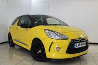 USED 2014 64 CITROEN DS3 1.6 DSTYLE PLUS 3DR AUTO 120 BHP FULL SERVICE HISTORY + LEATHER SEATS + PARKING SENSOR + CRUISE CONTROL + AIR CONDITIONING + 17 INCH ALLOY WHEELS