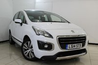 USED 2014 14 PEUGEOT 3008 1.6 HDI ACTIVE 5DR 115 BHP SERVICE HISTORY + CRUISE CONTROL + PARKING SENSOR + AIR CONDITIONING + AUXILIARY PORT + 17 INCH ALLOY WHEELS