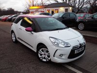 USED 2014 14 CITROEN DS3 1.6 DSTYLE PINK 3d 120 BHP Two Owners Service History
