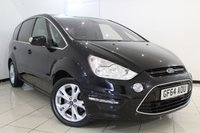 USED 2014 64 FORD S-MAX 2.0 TITANIUM TDCI 5DR 161 BHP SERVICE HISTORY + 7 SEATS + BLUETOOTH + CRUISE CONTROL + PARKING SENSOR + MULTI FUNCTION WHEEL + AUXILIARY PORT + 17 INCH ALLOY WHEELS