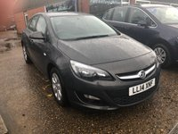USED 2014 14 VAUXHALL ASTRA 1.4 DESIGN 5 DOOR 100 BHP IN MET GREY WITH 52000 MILES. APPROVED CARS ARE PLEASED TO OFFER THIS VAUXHALL ASTRA 1.4 DESIGN 5 DOOR 100 BHP IN MET GREY WITH 52000 MILES WITH A FULL SERVICE HISTORY THIS CAR IS A ONE OWNER AND IN IMMACULATE CONDITION INSIDE AND OUT AN IDEAL FAMILY CAR.