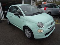 USED 2016 65 FIAT 500 1.2 POP 3d 69 BHP New Shape finished in Mint Green. Low Mileage, Just Serviced by ourselves, One Previous Owner, MOT until January 2019, Great on fuel economy! Only £20 Road Tax! Balance of Fiat Warranty until January 2019
