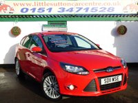 USED 2011 11 FORD FOCUS 1.6 ZETEC 5d 104 BHP 2 OWNERS, SERVICE HISTORY, FINANCE AVAILABLE
