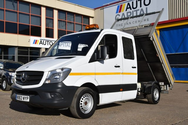 2013 63 MERCEDES-BENZ SPRINTER 2.1 313 CDI D/C MWB 4d 6 SEAT129 BHP RWD CRUISE CONTROL ELECTRIC WINDOWS TIPPER ONE OWNER FROM NEW