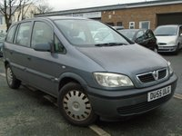 USED 2005 55 VAUXHALL ZAFIRA 1.6 LIFE 16V 5d 99 BHP **2 OWNERS**7 SEATER**