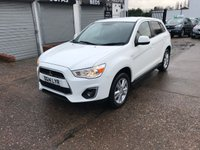 USED 2014 14 MITSUBISHI ASX 1.8 DI-D 3 5d 114 BHP 1 Owner, Full Service History,Bluetooth, CD player, Alloy wheels, Cruise control, Parking Sensors (rear)