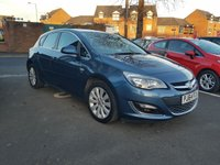 USED 2014 64 VAUXHALL ASTRA 1.6 ELITE 5d 113 BHP TOP SPECIFICATION WITH PARKING SENSORS, AIR CONDITIONING, LEATHER TRIM AND 17INCH ALLOY WHEELS!!..ELITE MODELEXCELLENT FUEL ECONOMY!..LOW CO2 EMISSIONS(147G/KM)..LOW ROAD TAX..FULL HISTORY..ONLY 8831 MILES FROM NEW!!
