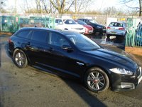 USED 2014 64 JAGUAR XF 2.2 D R-SPORT SPORTBRAKE 5d AUTO 163BHP 1OWNER+2KEYS+SATNAV+LEATHER+CD