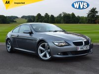 USED 2008 BMW 6 SERIES 3.0 635D SPORT 2d 282 BHP A fast and economical 2008 BMW 635D Sport auto coupe in grey metallic with a cream full leather sports interior. Spec includes SAT NAV, CLIMATE CONTROL, CRUISE CONTROL, BIG ALLOYS, BLUETOOTH, XENON HEADLAMPS, PARK SENSORS, ELECTRIC SEATS, HEATED SEATS, ELECTRIC FOLDING MIRRORS AND ELECTRIC STEERING WHEEL ADJUSTMENT. Complete with a comprehensive service history and 2 keys. Previously supplied by us. Amazing value for just £9999.