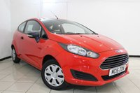 USED 2015 15 FORD FIESTA 1.2 STUDIO 3DR 59 BHP MULTI FUNCTION WHEEL + RADIO/CD + AIR CONDITIONING + ELECTRIC WINDOWS + AUXILIARY PORT