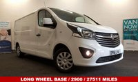 USED 2016 16 VAUXHALL VIVARO 1.6 2900 L2H1 CDTI SPORTIVE 115 BHP Long Wheel Base with Air Con, Bluetooth, DAB Radio *Over The Phone Low Rate Finance Available*   *UK Delivery Can Also Be Arranged*           ___________       Call us on 01709 866668 or Send us a Text on 07462 824433