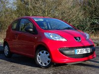 USED 2007 07 PEUGEOT 107 1.0 URBAN LITE 3d 68 BHP LOW MILEAGE AND LOW RUNNING COSTS
