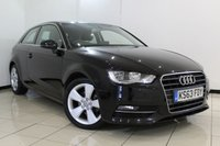 USED 2014 63 AUDI A3 1.6 TDI SPORT 3DR 104 BHP SERVICE HISTORY + PARKING SENSOR + BLUETOOTH + MULTI FUNCTION WHEEL + CLIMATE CONTROL + 17 INCH ALLOY WHEELS