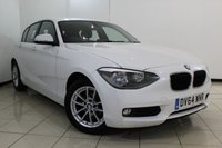 USED 2014 64 BMW 1 SERIES 2.0 116D SE 5DR AUTOMATIC 114 BHP FULL BMW SERVICE HISTORY + BLUETOOTH + CRUISE CONTROL + MULTI FUNCTION WHEEL + AUXILIARY PORT + 16 INCH ALLOY WHEELS