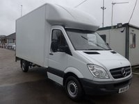2011 MERCEDES-BENZ SPRINTER 313 CDI LWB LUTON TAILIFT, 130 BHP [EURO 5], FULL SERVICE HISTORY, 1 COMPANY OWNER £SOLD