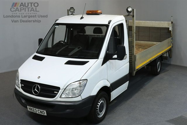 2013 63 MERCEDES-BENZ SPRINTER 2.1 313 CDI LWB 2d 129 BHP DROPSIDE REAR TAIL LIFT DROPSIDE LORRY ONE OWNER FROM NEW